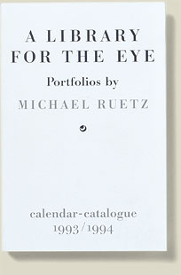 Coveransicht A Library for the Eye 1993/94 von Michael Ruetz