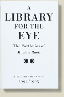 Coveransicht A Library for the Eye 1994/95 von Michael Ruetz