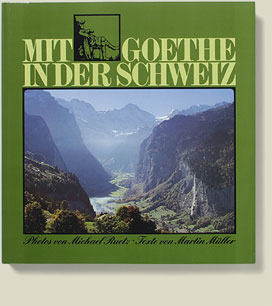Buchcover Mit Goethe in der Schweiz