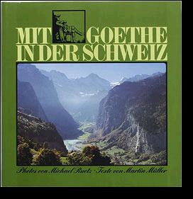 Cover vdes Buches Mit goethe in der Schweiz